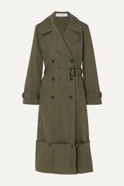 JW Anderson Button-detailed cotton-twill trench coat