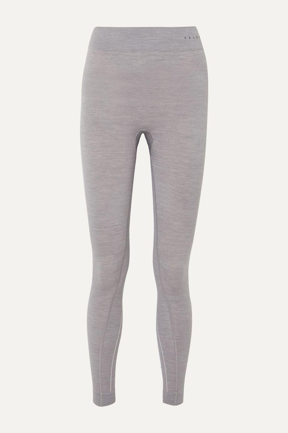 FALKE Ergonomic Sport System Mélange wool-blend leggings