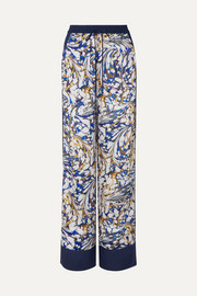 Mary Katrantzou Macaw printed twill wide-leg pants