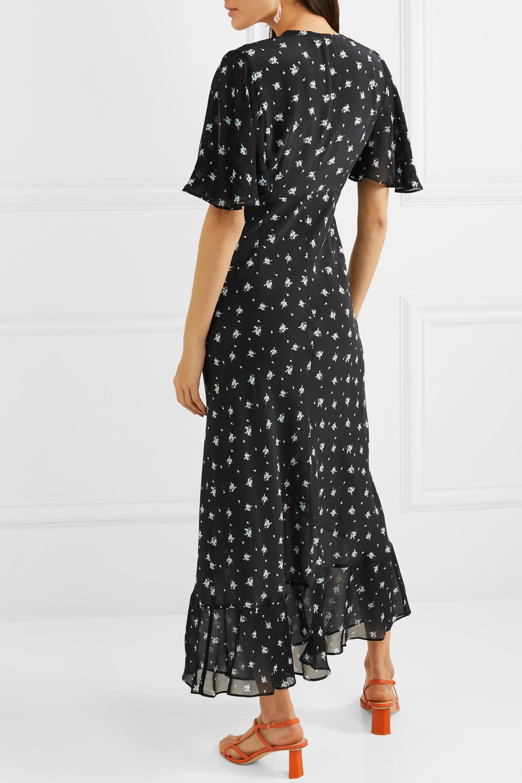 RIXO Zhandra floral-print silk crepe de chine midi dress