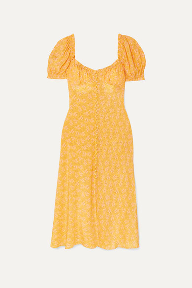 720c515fc34c RIXO | Tammy ruffled floral-print silk-georgette dress | NET-A-PORTER.COM