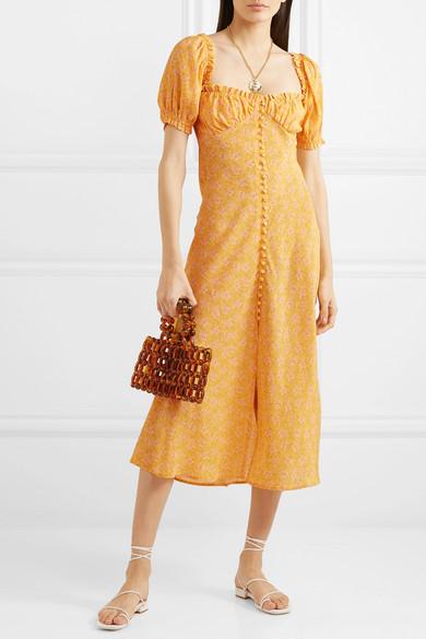 bf7c34cefce7 RIXO | Tammy ruffled floral-print silk-georgette dress | NET-A ...