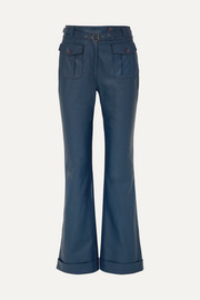 Sies Marjan Nola belted leather flared pants