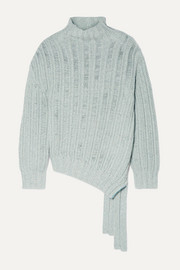 Sies Marjan Nancy asymmetric ribbed cashmere and wool-blend turtleneck sweater
