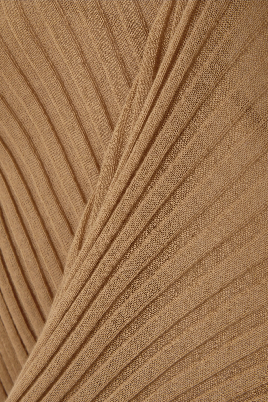 Bottega Veneta Gerippter Rollkragenpullover aus einer Baumwollmischung