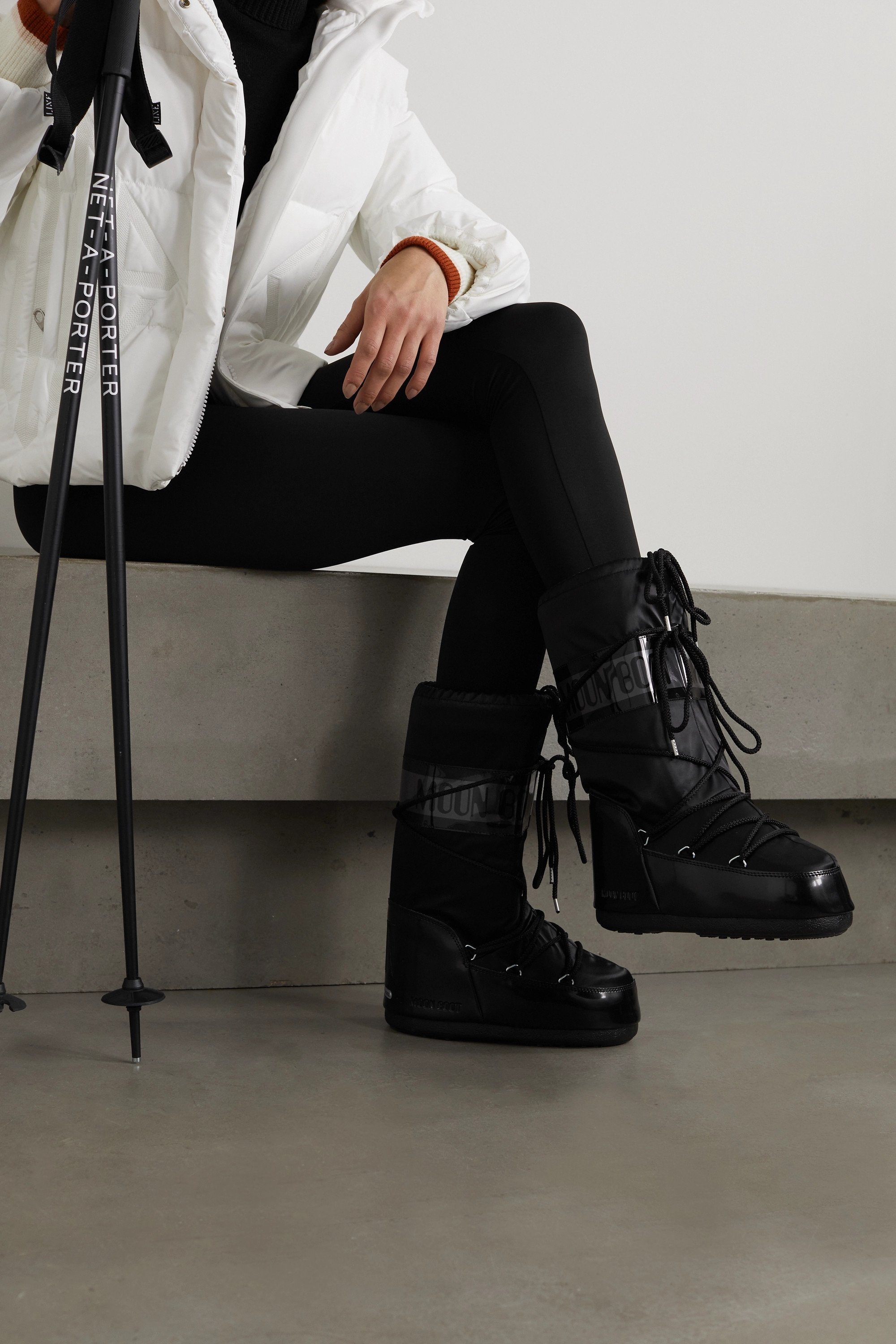 Moon Boot Shell and rubber snow boots