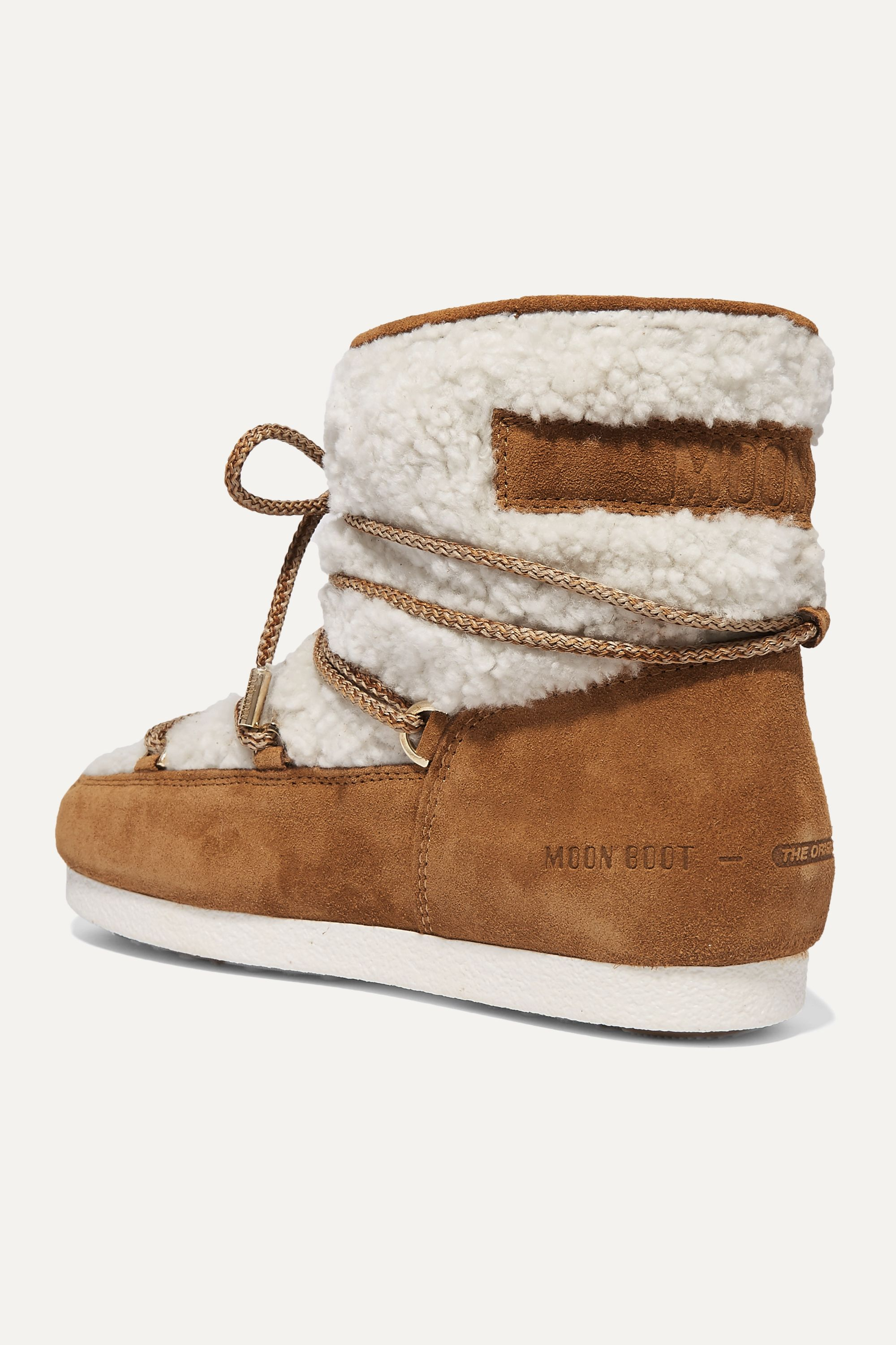 Moon Boot Suede and shearling ankle boots