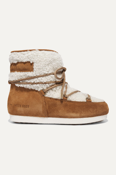 Suede And Shearling Ankle Boots by Moon Boot