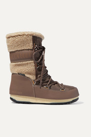 Moon Boot Monaco Mid shell, rubber and wool snow boots