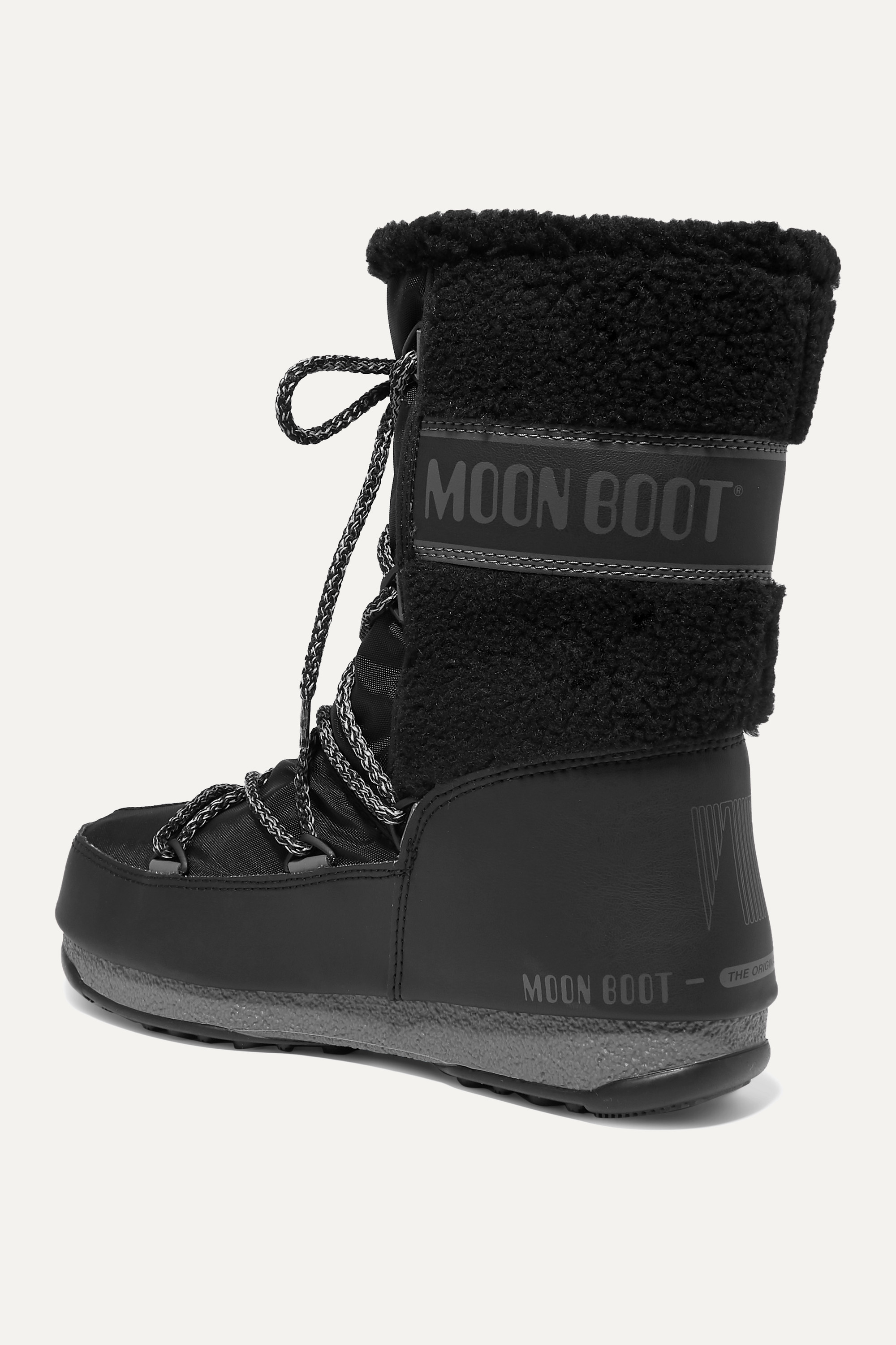 Moon Boot Shell, rubber and wool snow boots
