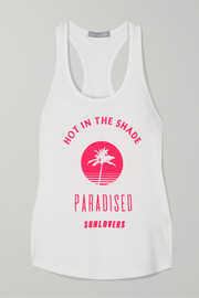 Paradised Hot In The Shade printed cotton-blend jersey tank
