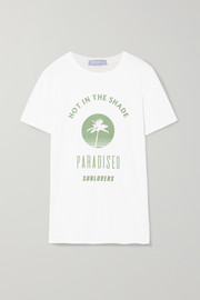 Paradised Hot Shade printed cotton-jersey T-shirt