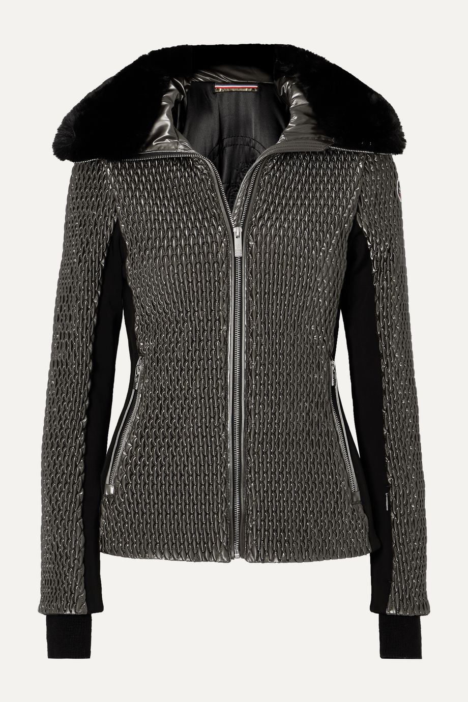 Fusalp Montana faux fur-trimmed quilted luminescent ski jacket