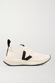 Rick Owens + Veja vegan-leather trimmed V-knit sneakers