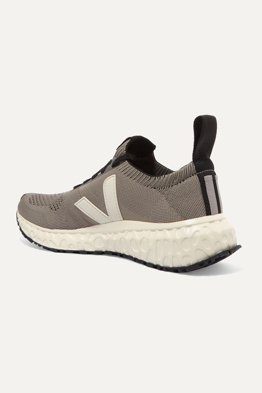 Rick Owens + Veja vegan-leather trimmed V-knit sneakers