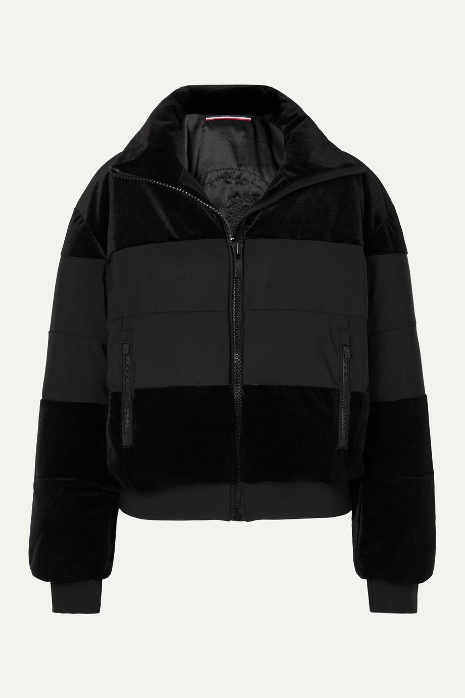 Fusalp Cooler quilted paneled velvet ski jacket