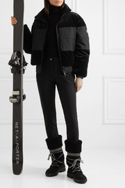 Fusalp Cooler quilted paneled velvet ski jacket