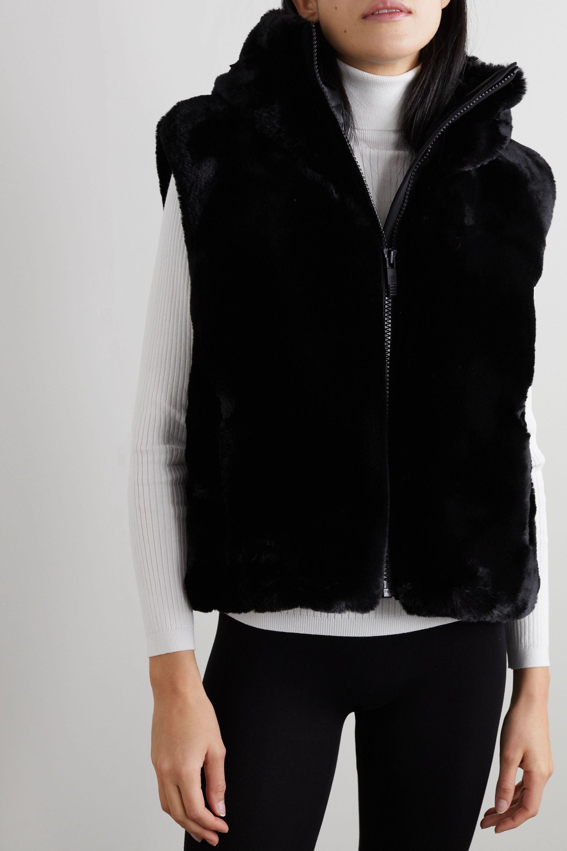 Fusalp Pegase hooded faux fur vest