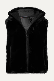 Fusalp Pegase hooded faux fur vest