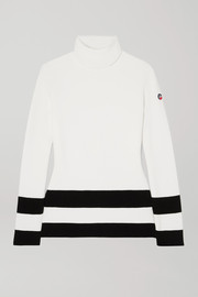 Fusalp Striped knitted turtleneck sweater
