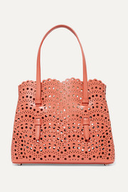 Alaïa Small laser-cut leather tote