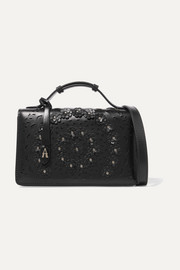 Alaïa Small studded laser-cut leather tote