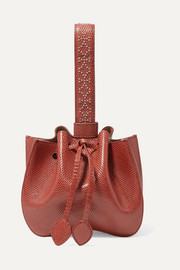 Alaïa Small studded lizard bucket bag