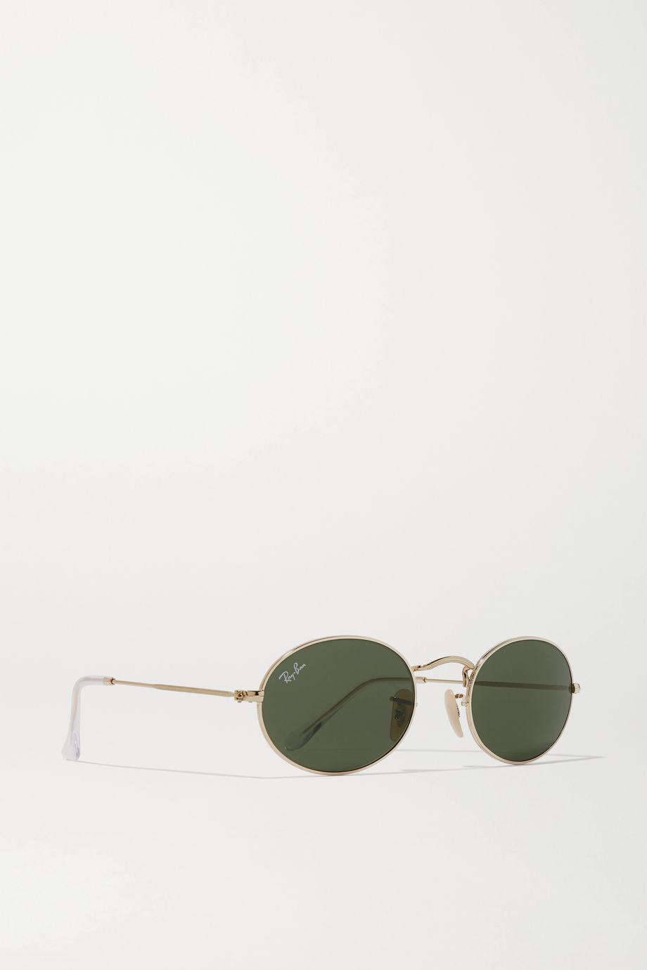 Ray-Ban Oval-frame gold-tone sunglasses
