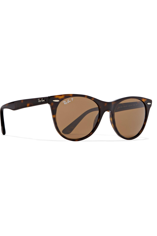 Ray-Ban The Wayfarer II round-frame tortoiseshell acetate sunglasses