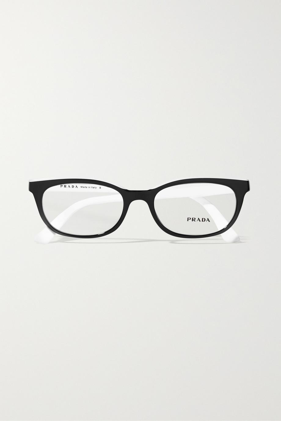 Prada Square-frame two-tone acetate optical glasses
