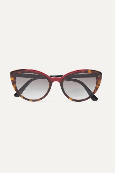 39c3d124dd Prada. Cat-eye tortoiseshell acetate sunglasses