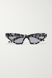 Prada Cat-eye marbled acetate sunglasses