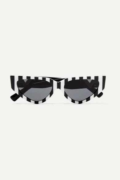 a14de68ec4 Valentino | Lunettes de soleil œil-de-chat en acétate à rayures Valentino  Garavani | NET-A-PORTER.COM