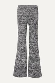 956076645 Pantalon évasé en mailles côtelées chinées