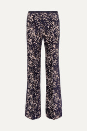 Victoria, Victoria Beckham Flocked canvas flared pants