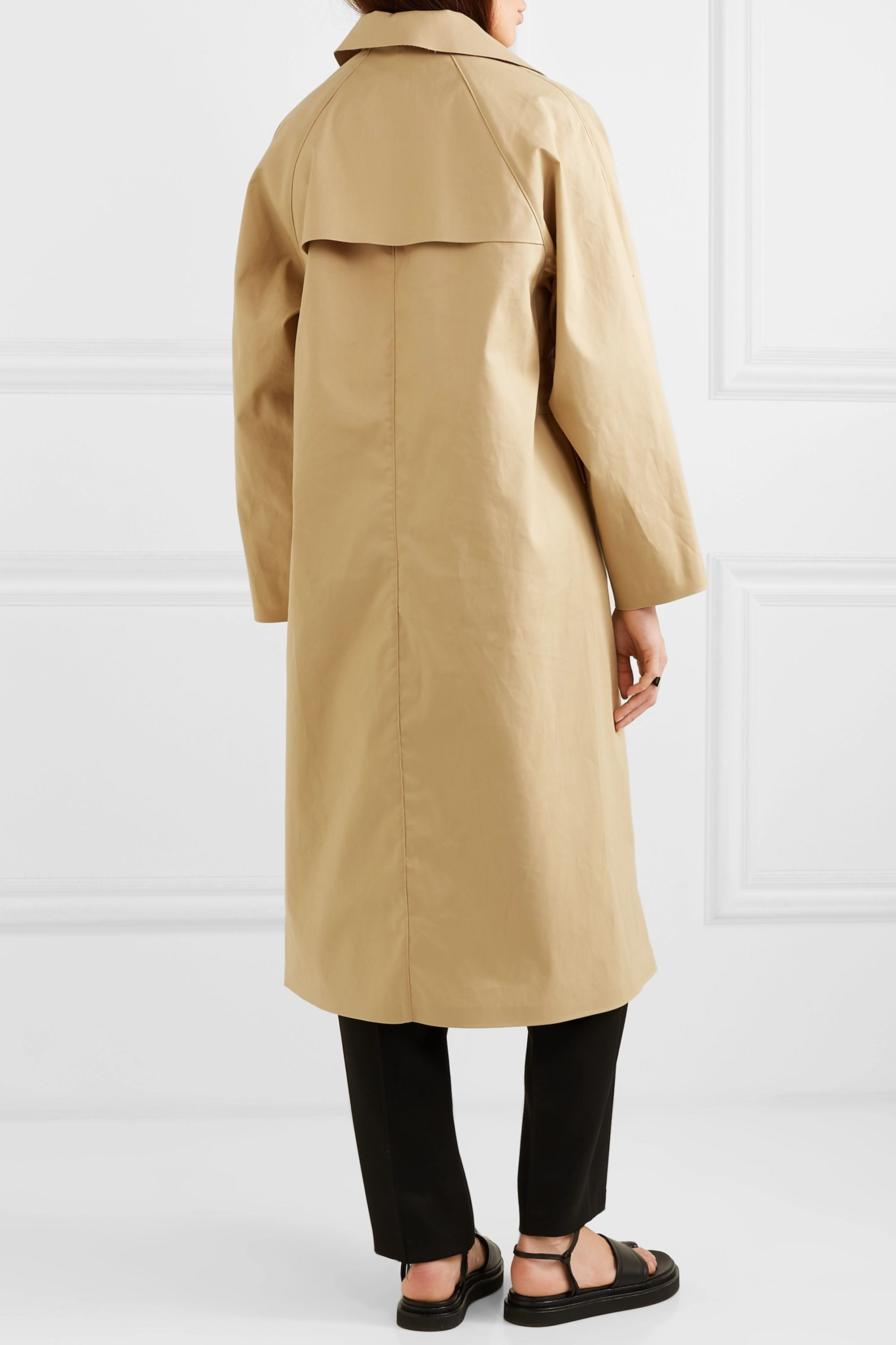 Kassl Editions Belted cotton-blend canvas trench coat