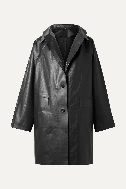 Kassl Editions Coated cotton-blend coat