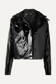 Kassl Editions Cropped coated cotton-blend jacket