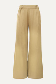 Bridget satin wide-leg pants
