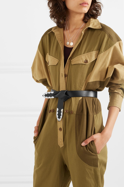 Isabel Marant Liuce embellished leather belt