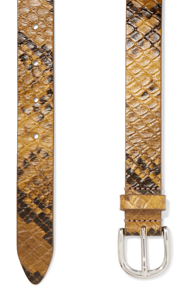Zap Snake Effect Textured Leather Belt by Isabel Marant