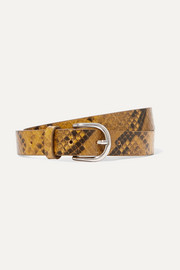 Isabel Marant Zap snake-effect textured-leather belt