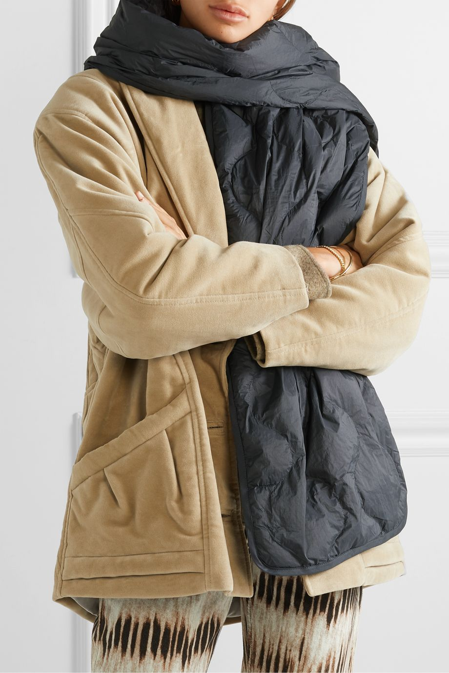 Isabel Marant Bremon quilted shell scarf