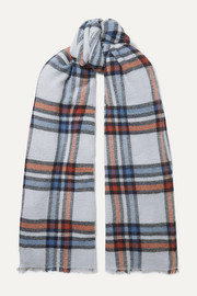 Isabel Marant Simona checked wool and cashmere-blend scarf