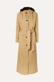 Kassl Editions Cotton-blend shell trench coat