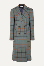 REMAIN Birger Christensen Debbie double-breasted checked woven coat