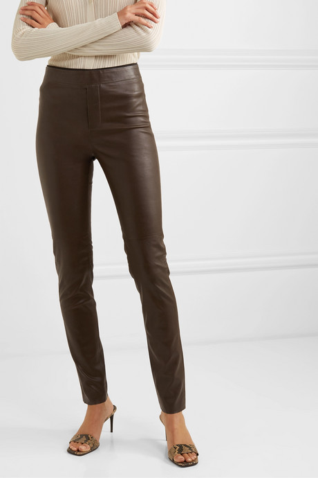 Snipe stretch-leather leggings