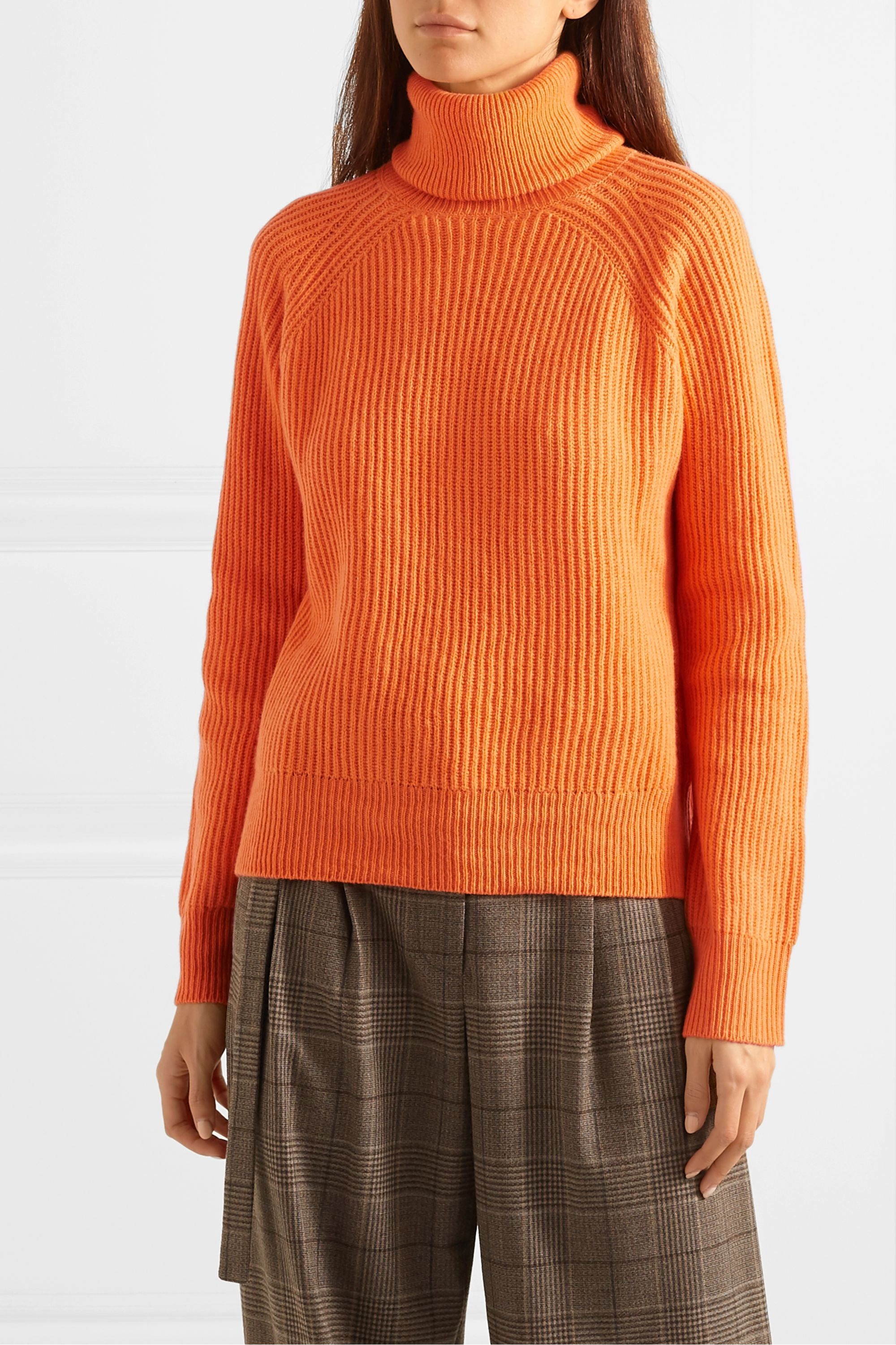 REMAIN Birger Christensen Jerome ribbed wool and cashmere-blend turtleneck sweater