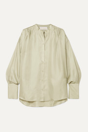 REMAIN Birger Christensen Silk-satin blouse