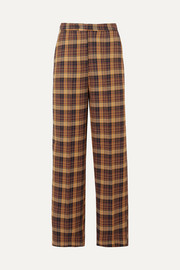 REMAIN Birger Christensen Dublin checked cotton-blend straight-leg pants